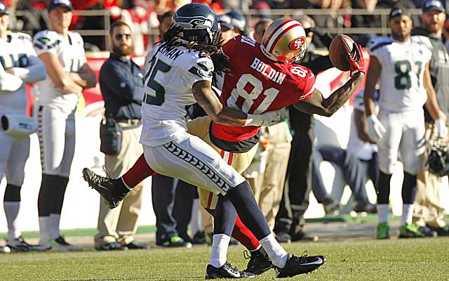 Seattle CB Richard Sherman and Niners WR Anquan Boldin will meet again. (USATSI)