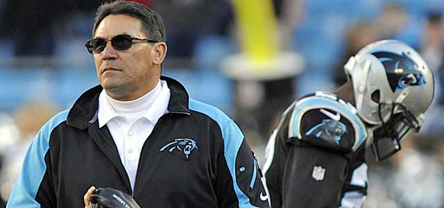 Riverboat Ron Rivera and the Panthers have trouble charting a course Sunday. (USATSI)