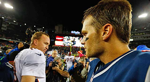 Tom Brady got the best of Peyton Manning on Nov. 24. Brady holds a 2-1 playoff edge. (Getty Images)