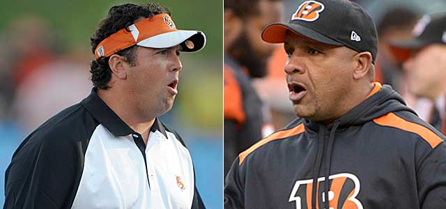 The Bengals find coordinator replacements in Paul Guenther and Hue Jackson. (USATSI)