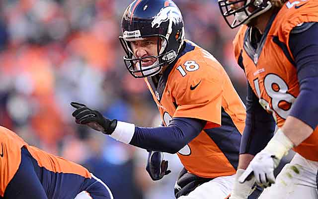 If the Patriots play only six in the box, expect Peyton Manning to keep calling runs.   (USATSI)
