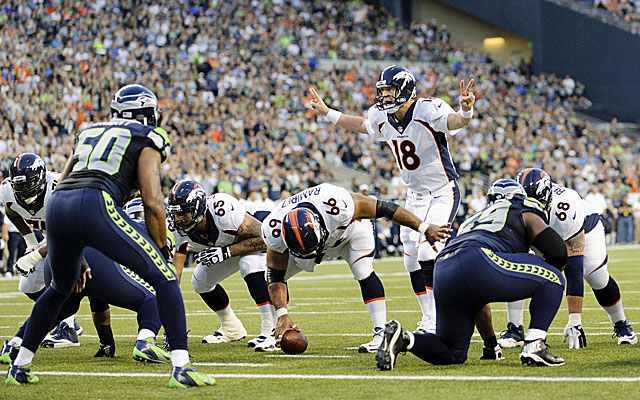 Peyton Manning loves to read defenses at the line, but the Seahawks will pose significant problems. (USATSI)