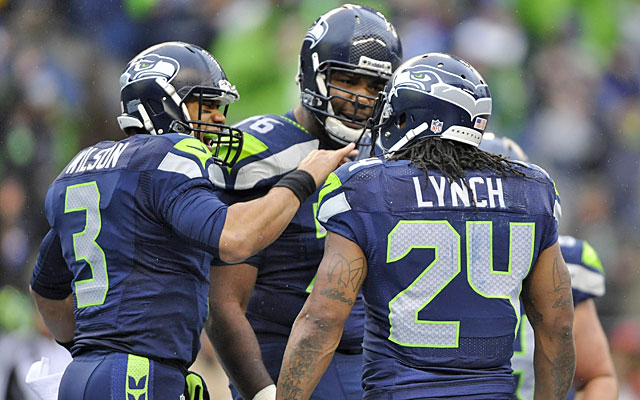 Russell Wilson, Russell Okung and Marshawn Lynch are the foundation of the Seahawks' offense. (USATSI)