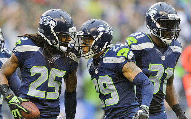 Legion of Boom: Richard Sherman is Mr. Outside while Earl Thomas and Kam Chancellor rule inside. (USATSI)