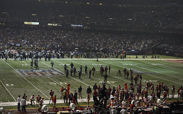 Back in New Orleans, the Ravens were about to run away and hide when the lights went out. (USATSI)