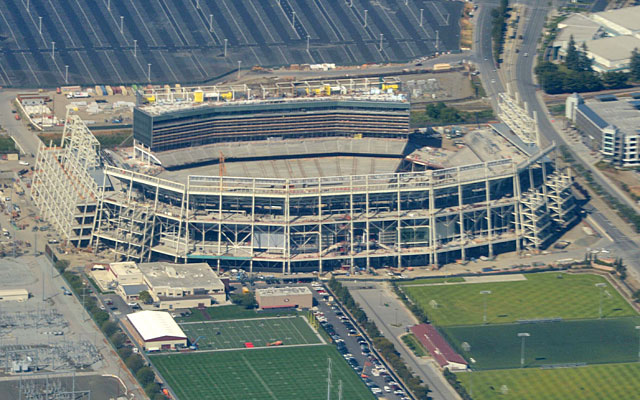The Niners' new stadium in Santa Clara will host the NFL's milestone title game in two years. (USATSI)