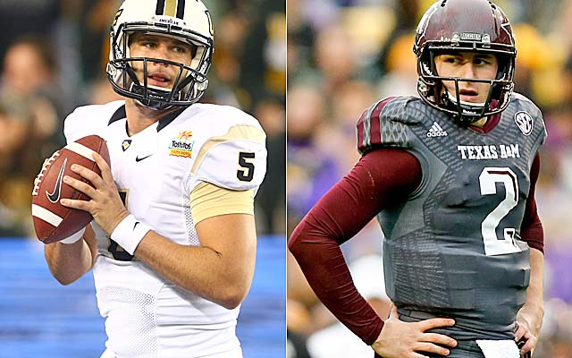 Who goes No. 1 -- Blake Bortles or Johnny Manziel?     (USATSI)