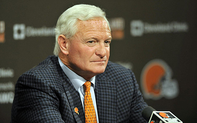 Jimmy Haslam's timing for firing his coach and firing his front office seems a little off the wall. (USATSI)