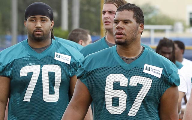 Andrew McDonald (67) spent one season with the Dolphins before being released. (Getty Images)