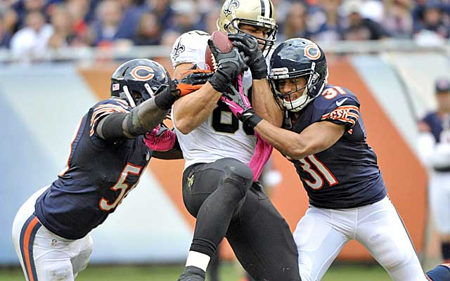 Jimmy Graham is likely headed for a franchise tag, but will it be as a designated TE or WR?   (USATSI)