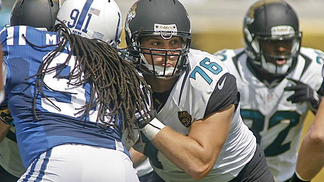 Luke Joeckel, the Jags' top pick in the 2013 draft, is the cornerstone Caldwell wants to build around.   (USATSI)