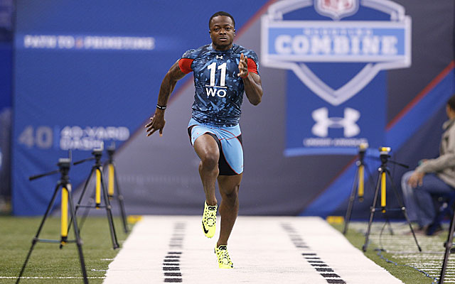 Marquise Goodwin, the fastest player at last year's combine, was a third-round pick of Buffalo. (Getty)