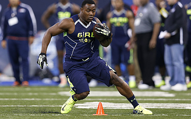 Ka'Deem Carey showed little explosiveness with his 4.7 clocking at the combine. (Getty)