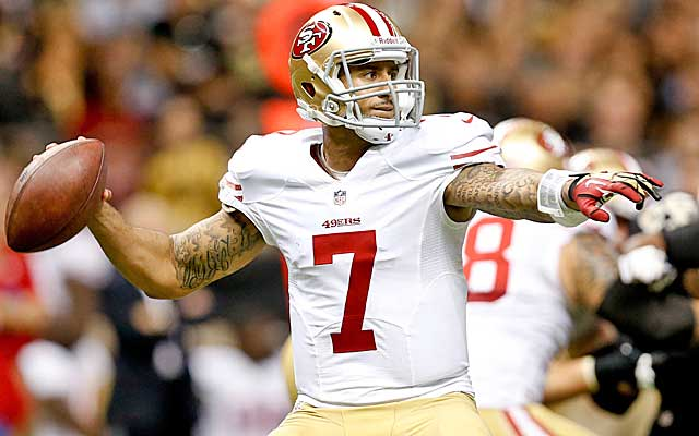 The sample size is small, but Colin Kaepernick's numbers as a starter are elite.   (USATSI)
