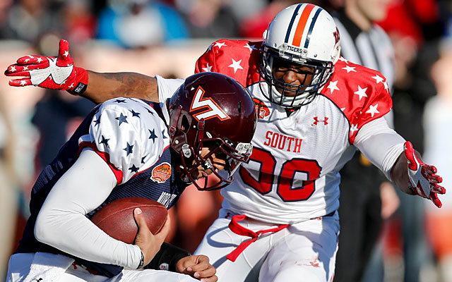 A star at the Senior Bowl but a medical no-show at the combine, Dee Ford put on a Pro Day show. (USATSI)