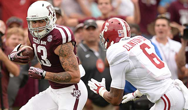 A&M wideout Mike Evans and Bama safety Ha-Ha Clinton Dix flash first-round talent in this game. (USATSI)