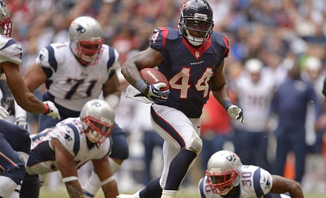 Ben Tate has the advantage of reduced wear and tear and is only 25. (USATSI)