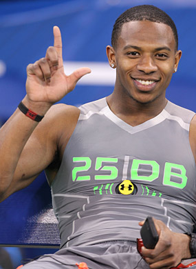 Justin Gilbert had reason to smile during a strong combine. (USATSI)