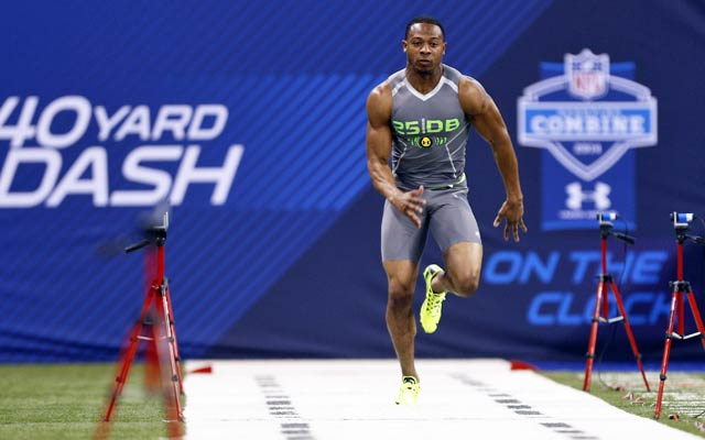 Justin Gilbert can run the 40 but his other drills might concern scouts. (USATSI)