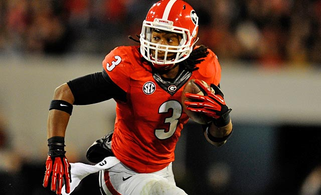 Likely Heisman contender Todd Gurley is unlikely to ever find an Adrian Peterson-sized NFL contract. (USATSI)