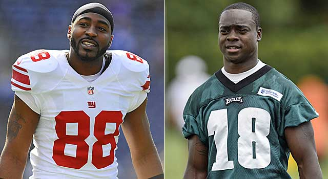 Expect guys like Hakeem Nicks and Jeremy Maclin back on one-year deals next year. (USATSI)