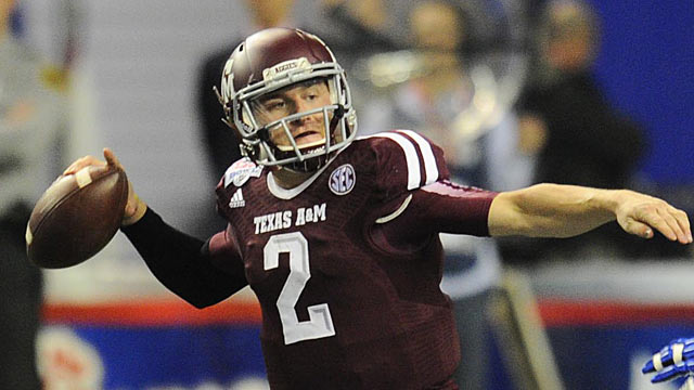 After dropping out of Round 1 in Mock No. 6, Manziel is back at No. 5 overall. (USATSI)