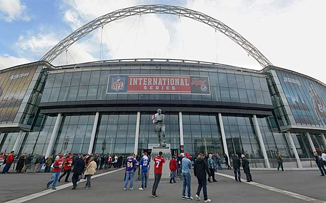 The NFL plays its London games on the soccer pitch at Wembley Stadium.   (USATSI)