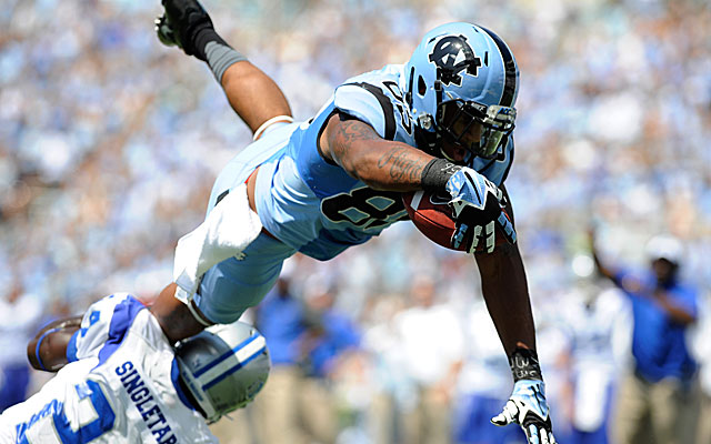 Eric Ebron has shown inconsistencies but still figures to be a mid-first round pick. (USATSI)
