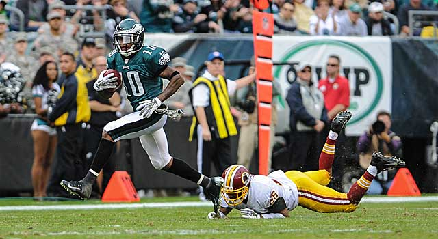 DeSean Jackson can do this for the Redskins now, instead of to them. (USATSI)