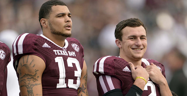 Evans and Manziel are part of an early Texas A&M hat trick in Round 1.  (USATSI)