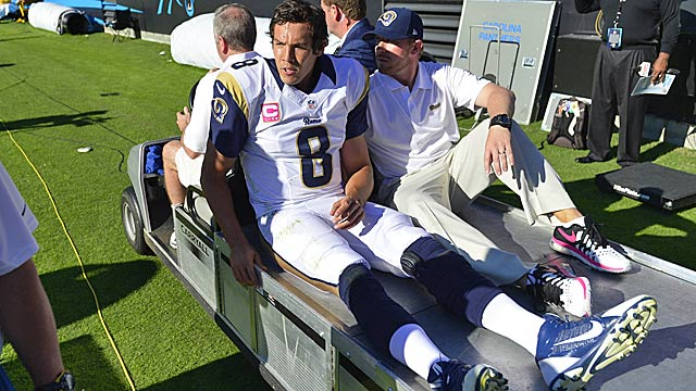Bradford's injury history is a big part of the equation for the Rams. (USATSI)