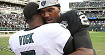 Michael Vick, JaMarcus Russell (Getty Images)