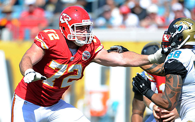 Tackle Eric Fisher, the No. 1 overall pick in 2013, had trouble adjusting to the NFL's physicality.  (USATSI)