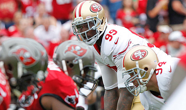 Perhaps super talent Aldon Smith has been too much trouble to keep for the Niners.  (USATSI)