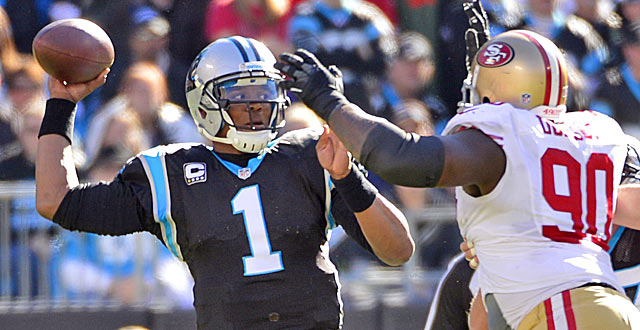 The Panthers are getting a relative bargain with supremely talented Newton.  (USATSI)