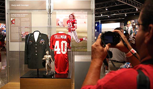 Pat Tillman's display at the Hall of Fame should be accompanied by his enshrinement. (Getty Images)