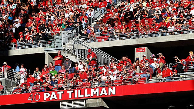 The Cardinals added their former safety Pat Tillman to their Ring of Honor last December.  (USATSI)