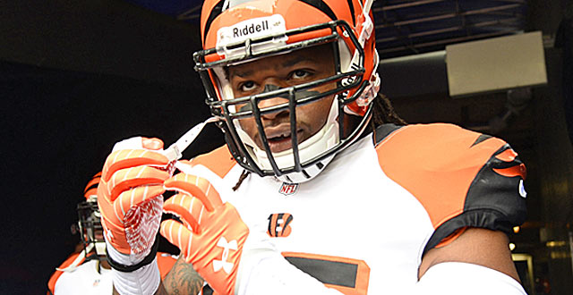 Vontaze Burfict can't get over how far he fell ... all the way out of the 2012 draft.  (USATSI)