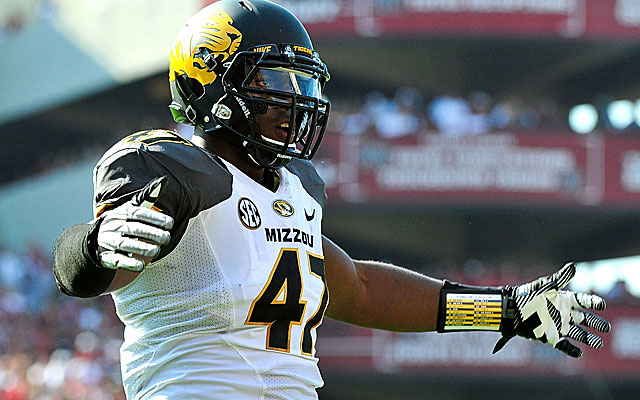 If the Falcons don't draft a pass-rusher early, a guy like Kony Ealy could be available later. (Getty)