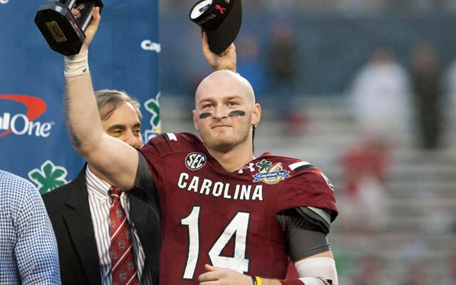 South Carolina QB Connor Shaw does not get selected in the draft. (USATSI)