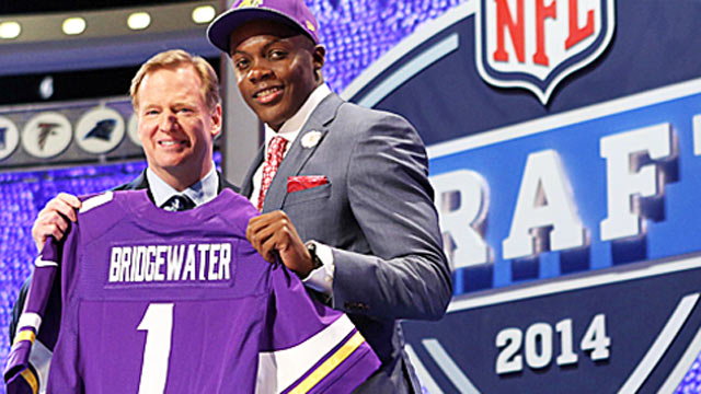 The Vikings score what looks like another great draft haul just as they did in 2013. (USATSI)