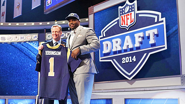 Big-time tackle Greg Robinson is only the first piece of the Rams' huge draft score. (USATSI)