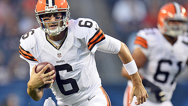 Brian Hoyer is the starter, but the clamor for Johnny Manziel figures to grow loud quickly. (USATSI)