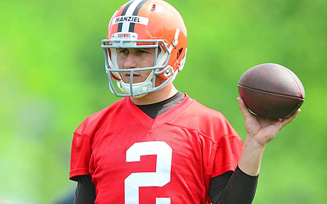 The Browns didn't draft Johnny Manziel to be a third-string QB.    (USATSI)