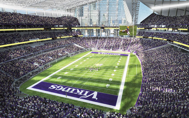 The new Vikings stadium will be the site of the NFL's showcase event in 2018.  (Minnesota Vikings)