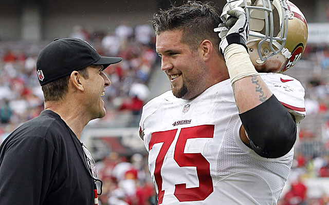 Alex Boone wants more money from the 49ers, and he might have a point.  (USATSI)