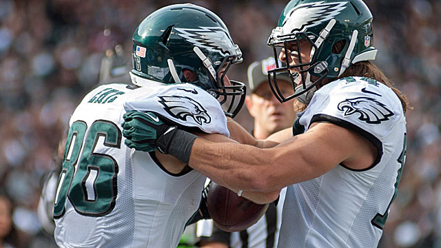 Tight end Zach Ertz could become an impact receiver in Philly's fast offense. (USATSI)