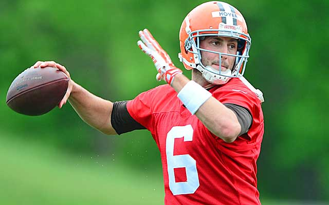 Brian Hoyer says he embraces the opportunity to compete against Johnny Manziel.    (USATSI)