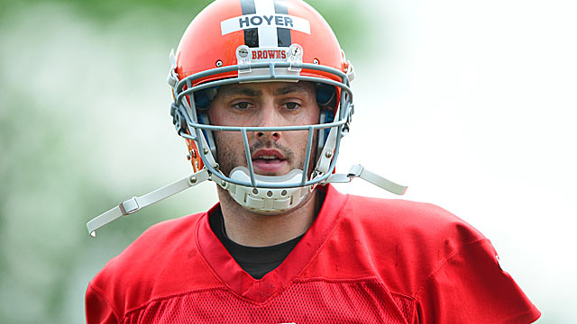 Brian Hoyer won't have much room for error with Johnny Manziel waiting for his chance. (USATSI)