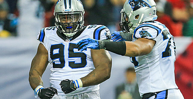 Charles Johnson and the Panthers were strong getting a pass rush blitzing or not. (USATSI)